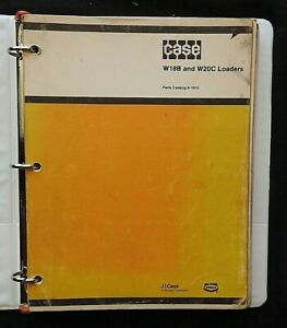 1975-82 CASE W18B W20C WHEEL LOADER TRACTOR PARTS CATALOG MANUAL VERY GOODSHAPE