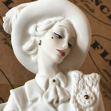 G.Armani Figurine Statue Lady With Poodle Dog #0394-F Mint Orig.Box Papers