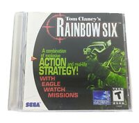 Tom Clancy's Rainbow Six Video Game for Sega Dreamcast Rare Army Military Spy