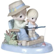 "Precious Moments ""I Love Spending Time With You"" Dad & boy fishing 124006 NIB"
