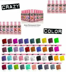 Crazy Color Semi Permanent Hair Dye 100ml - Choose From 41 Shades