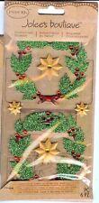 Glitter Wreaths Christmas Decorations Parcel Jolee's 3D Stickers