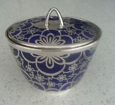 Johann Haviland Bavaria Blu Cina con coperchio Ciondolo Box-Silver Overlay Spahr 1000