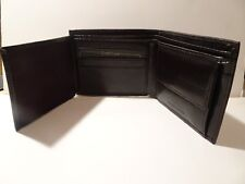 Mens dark brown leather wallet. NEW