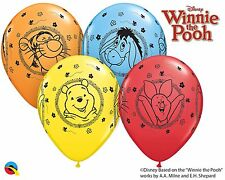 "Winnie The Pooh Party Supplies 10 X 11"" Qualatex Assorted Latex Balloons"