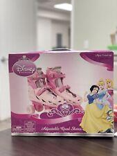 New Disney Princess Kids Classic Adjustable Quad Roller Skates Junior Size 10-13