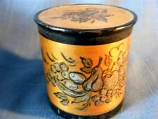Antique Round Wood Spice Box Helen Bushnell Studio  Wyncote PA Vintage