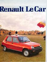 1983 Renault 5 LeCar Original Car Sales Brochure Folder