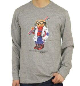 Polo Ralph Lauren Polo Bear Ski Long Sleeve T Shirt Grey Size L Stadium Rare