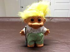 "Vintage Russ Troll Doll 8"" Large Golf Player Yellow Hair Brown Eyes"