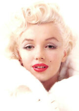 Marilyn Monroe in Fur Coat 8x10 Fabric Block - BUY 2 FABRIC LISINGS, GET 1 FREE!