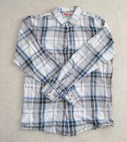 NWOT Wrangler Jeans C0 men's Plaid long sleeve collar shirt Size Medium