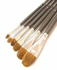 Professional Filbert Weasel Hair Paint Brushes. These Paint Brushes ARE AMAZING!
