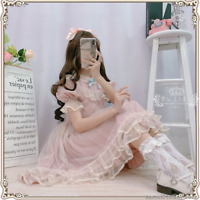 Japanese Sweet Cute Lolita Loli Girl Princess Chiffon Short Sleeve Dress Summer