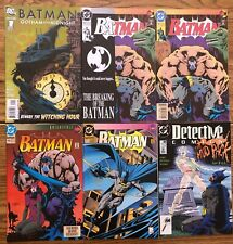 LOT OF 6 BATMAN COMICS (DC,1989-2008) #1,497,498,500,606 COPPER/MODERN AGE=