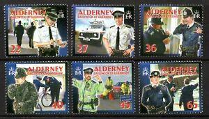 Alderney Stamps 2003 SG A217-222 Community Services, Police Blocks of 4 Mint MNH
