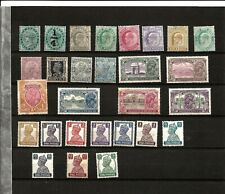 INDIA (D18) VICTORIA TO 1940 SMALL GROUP OF 28 MM SOME NO GUM SOME WITH TONING