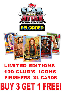 Topps WWE Slam Attax Reloaded (2020) 100 CLUB LIMITED EDITIONS ICONS FINISHERS