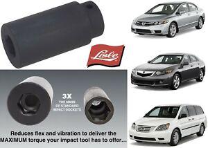 Lisle 77080 19 mm Harmonic Balancer Socket For Honda & Acura New Free Shipping