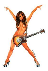 SEXY 6 inch #Hot #ROCKSTAR ROCK STAR GIRL GUITAR #BUMPERSTICKER #STICKER/#DECAL