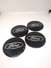 4X 56mm BLACK FORD Wheel HUB Center Cap DECAL STICKER MUSTANG FUSION EDGE FOCUS