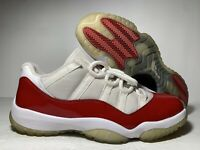 Air Jordan Mens 11 Retro Low Cherry Basketball Shoes Red 528895-10 Size 10.5 US