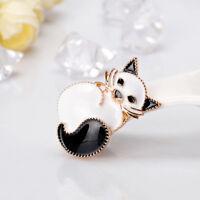 Fashion Alloy Black Cat Animal Brooch Pin for Women Kids Jewelry LD