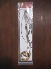 Fly Tying Whiting 100's Saddle Hackle Grizzly dyed Dark Olive- sz#20