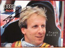AUTOGRAPHED COLOR  PHOTO>RACE CAR DRIVER >FRANK BIELA