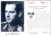SPGL14 German Fighter Luftwaffe Battle of Britain photo signed SCHOPFEL KC