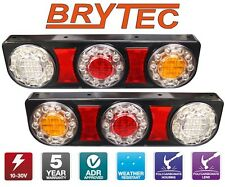 BRYTEC LED TAIL LIGHT SET FORD FALCON AU BA BF FG TRAY BACK 1 TONNER UTE EL120B