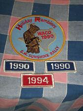"""Unused Patch Holiday Ramblers Waco 1990 S. W. Sunshine Rally + Years 4"""" High"""