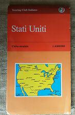 Stati Uniti carta stradale Touring Club Italiano 1:4000000 OTTIME CONDIZIONI