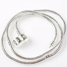 1x Snake Chain Necklaces Fit European Beads 46cm 150720