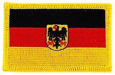 Toppe Toppa PATCH GERMANIA IMPERIALE Bandiera banderina ricamata termoadesivo