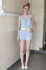 Vaqueros señora overall brevemente short azul Blue 80er True vintage 90´s Women pantalones vestido