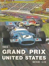 1969 Grand Prix United States Automobile Race Advertisement Vintage Poster