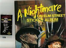 Nightmare on elm st, sticker album and 1 sticker pack