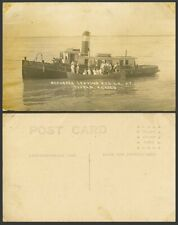 More details for mexico old real photo postcard refugees leaving u.s.s. la at tuxpam tuxpan ferry