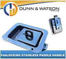 Pad Locking Stainless Steel Paddle Handle x1 Camper Trailer, Caravan Toolbox