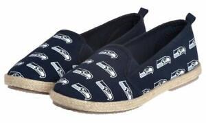 FOCO NFL Women's Seattle Seahawks Espadrille Canvas Shoe