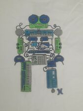 HURLEY Boys Kids WHITE ROBOT GRAPHIC T-SHIRT NWOT SIZE X-LARGE  (16/18)