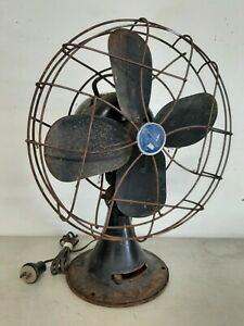 """VINTAGE EMERSON ELECTRIC 12"""" FAN - TYPE 79646AQ - WORKS - PARTS or REPAIR ONLY"""
