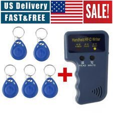 125KHz Handheld RFID ID Card Copier Key Reader Writer Duplicator+5PCS Tags US