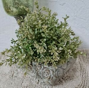 Plant Pot Vintage Shabby Garden Ornament Decor