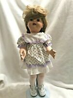 "Vtg Walker Composition 20"" Fully Jointed Doll Sleepy Eyes Open Mouth Teeth 1950s"