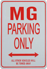 MG PARKING ONLY - Miniature Fun Parking Sign