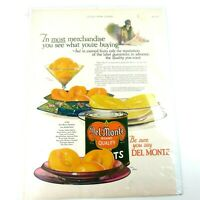 Vtg 1926 The Ladies Home Journal Del Monte Canned Fruits Print Advertisement