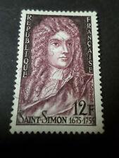 FRANCE 1955 timbre 1008, LOUIS DE ROUVROY, oblitéré, VF STAMP CELEBRITY