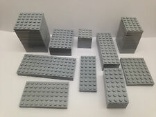 LEGO - 10 PIECES PER ORDER ONLY - NEW Light GREY Base Plates In Different Sizes